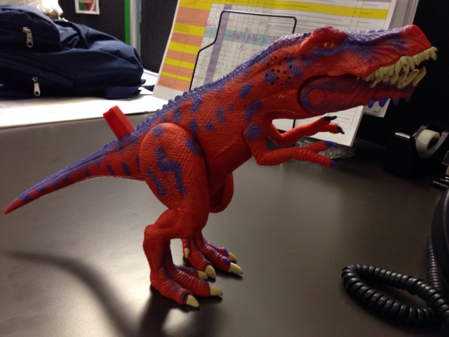 I have the best desk security in the prehistoric  world