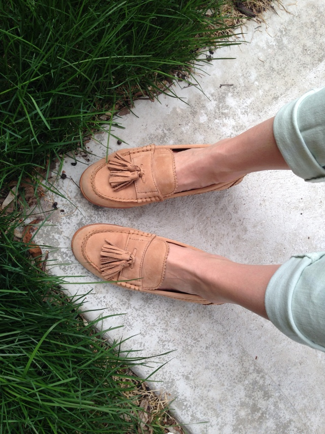 Chambray and Loafers, loafers